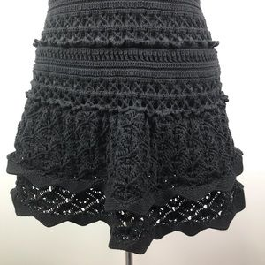 Moda International Dresses - MODA International black crochet halter mini dress